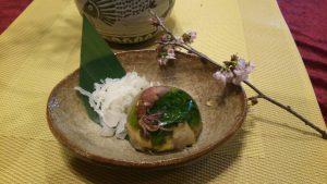 白いきくらげ「白美茸」料理(ゼリー寄せ)