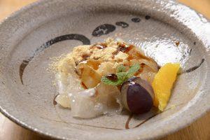 白いきくらげ「白美茸」料理(黒みつきな粉和え)