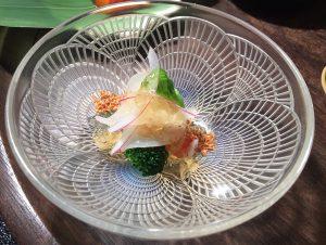 車海老とコリコリ白美茸のお酢のもの