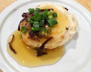きくらげ料理(豆腐ハンバーグ)